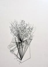 10, marqueur sur papier, 70 x 50 cm
