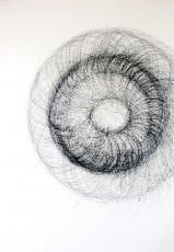 dessin 7, dispositif avec tour électrique, marqueur sur papier, 100x70cm, 2013