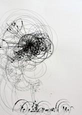 3, marqueur sur papier, 70 x 50 cm