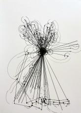 9, marqueur sur papier, 70 x 50 cm