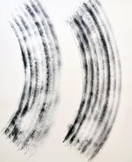 balayage 1, marqueur sur papier, 120 x 100 cm