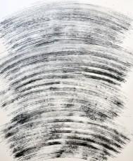 balayage 2, marqueur sur papier, 120 x100 cm