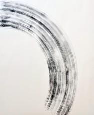 balayage 3, marqueur sur papier, 120 x 100 cm