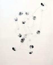 trajectoire 2, marqueur sur papier, 120 x 100 cm