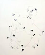 trajectoire 3, marqueur sur papier, 120 x 100 cm