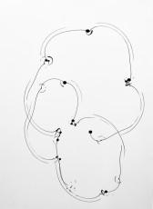 trajectoire 5, marqueur sur papier, 70 x 50 cm