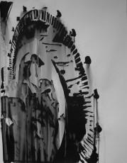 Bobine 2, encre de chine sur papier, 100x75cm