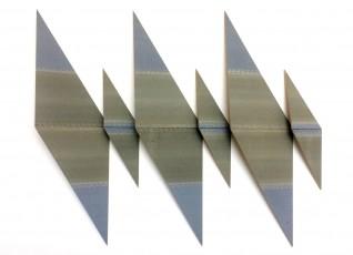 Degrés piano 5, 140x160x15cm, papiers abrasifs sur bois et charnières piano