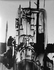 machine 3, encre de chine sur papier, 200x150 cm