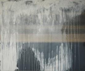 acrylique sur papier abrasif usagé, 67 x 80 cm