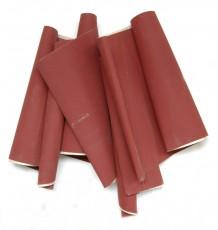 4 bandes de papier de verre rouges