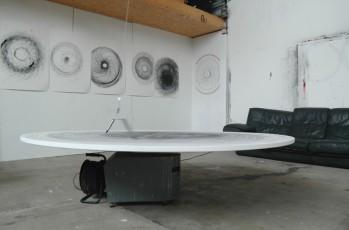 Dispositif avec tour électrique et marqueurs suspendus sur toile ronde ( diamètre 200cm)